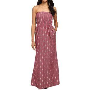 Kavu Layla Southwestern Strapless Maxi Dress L